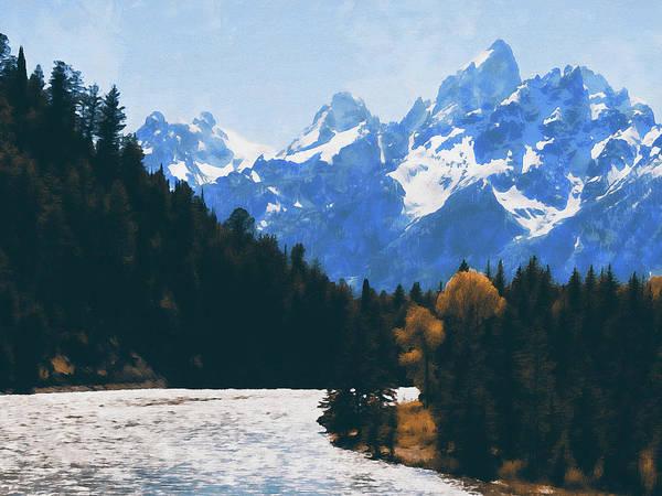 Painting - Wyoming, Grand Teton National Park - 09 by Andrea Mazzocchetti