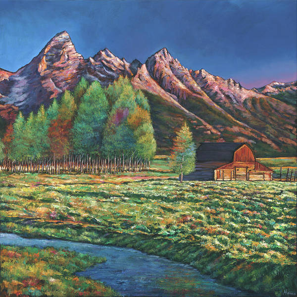 Montana Wall Art - Painting - Wyoming by Johnathan Harris