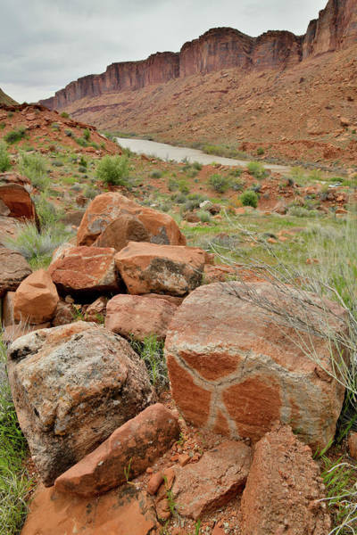 Photograph - X Boulder Along Colorado River In Utah by Ray Mathis