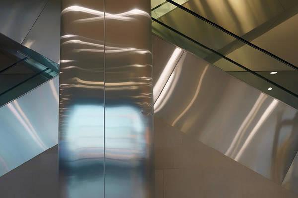 Wall Art - Photograph - X Marks The Spot - Escalator Abstract by Nikolyn McDonald