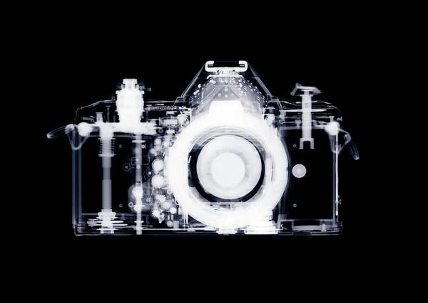 Wall Art - Photograph - X-ray Of 35mm Slr Camera by Nick Veasey