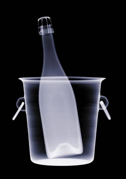 White Wine Wall Art - Photograph - X-ray Of A Bottle Of Champagne In An by Nick Veasey