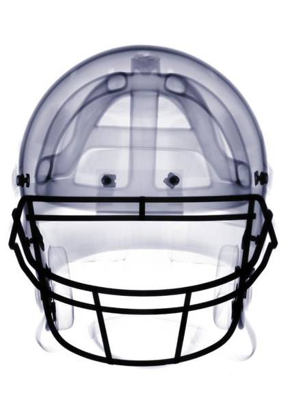 Football Helmet Photograph - X-ray Of American Football Helmet by Nick Veasey