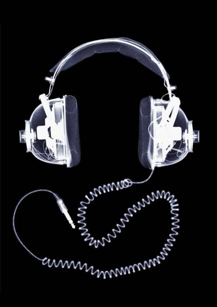 Close Up Photograph - X-ray Of Headphones by Nick Veasey