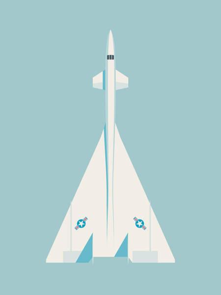 Bombers Wall Art - Digital Art - Xb-70 Valkyrie Supersonic Jet Aircraft - Sky by Ivan Krpan