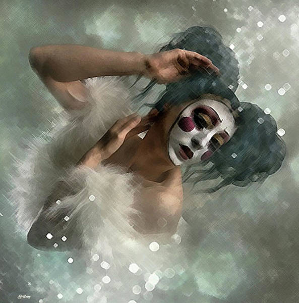 Harlequin Mixed Media - Dance Is Silent Poetry by G Berry