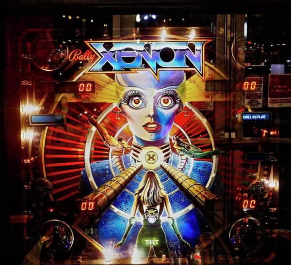 Photograph - 1980 Xenon Pinnball Machine by Joan Reese