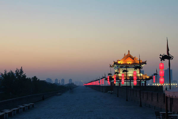 Xi Photograph - Xian City Wall In China by Eastimages