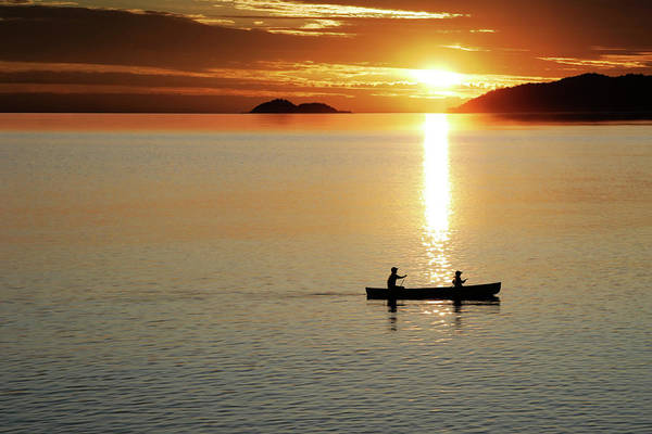 Lake Superior Photograph - Xl Canoe Sunset by Sharply done