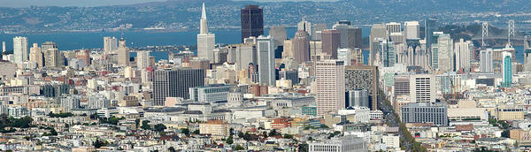 Wall Art - Photograph - Xxl Panoramic View Over San Francisco by Frankvandenbergh