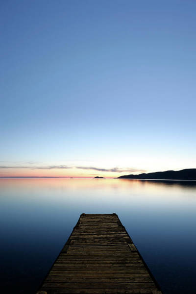 Lake Superior Photograph - Xxxl Serene Lake With Dock by Sharply done