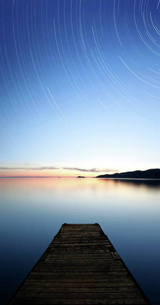 Lake Superior Photograph - Xxxl Serene Starry Lake by Sharply done