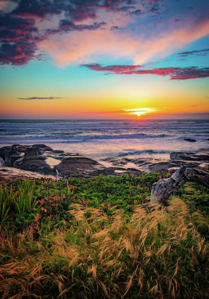 Photograph - Yachats Oregon Sunset by Carolyn Derstine