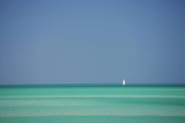 Sailboat Photograph - Yacht In Gulf Of Mexico, Florida, Usa by Tim Graham
