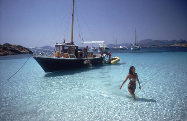 Wade Photograph - Yachting Trip by Slim Aarons