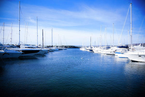 Luxury Yacht Photograph - Yachts In The Harbour by Gaspr13