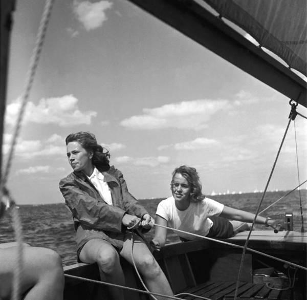 Pulling Photograph - Yachtswomen by Orlando
