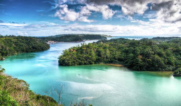 Okinawa Photograph - Yagaji  & Kouri Island by Michelle Bishop