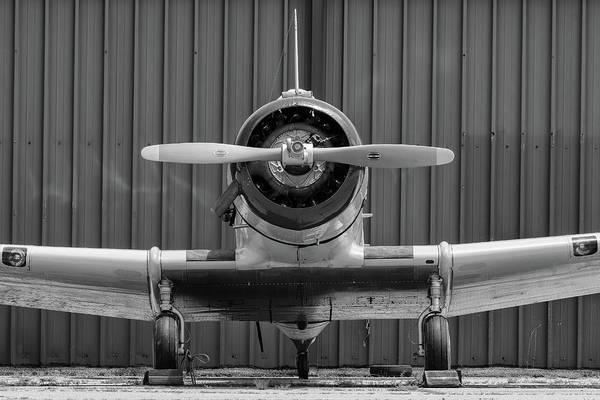 Photograph - Yale Against A Hangar Door by Chris Buff