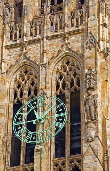 Photograph - Yale Clock Tower by Darrel Giesbrecht
