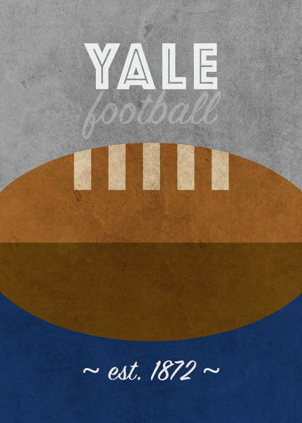 Wall Art - Mixed Media - Yale College Football Team Vintage Retro Poster by Design Turnpike