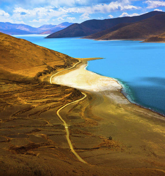 Wall Art - Photograph - Yamdrok Lake At Tibet by Feng Wei Photography