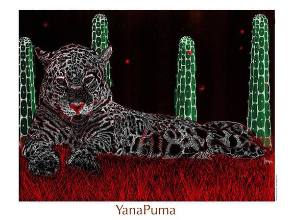 Puma Digital Art - Yana Puma by Santiago Andrade Leon