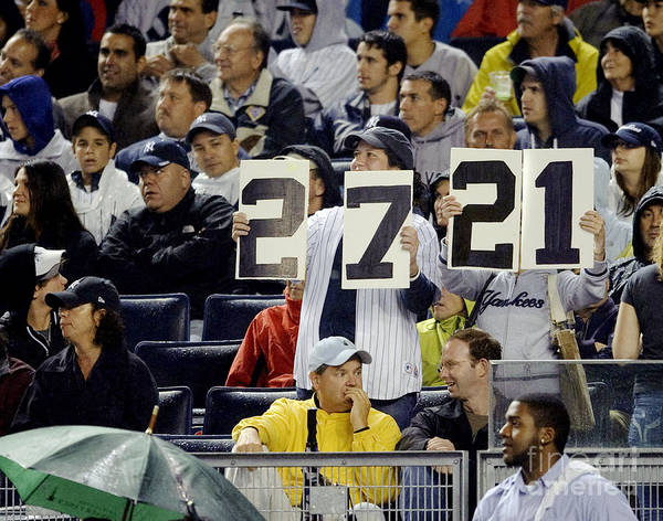 The Bronx Photograph - Yankee Fans Document The Number Of by New York Daily News Archive