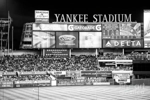Photograph - Yankee Stadium Left Field by John Rizzuto