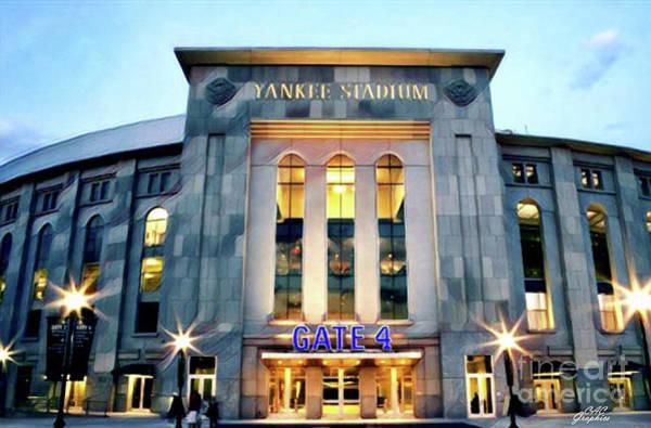 Photograph - Yankee Stadium Twilight by CAC Graphics