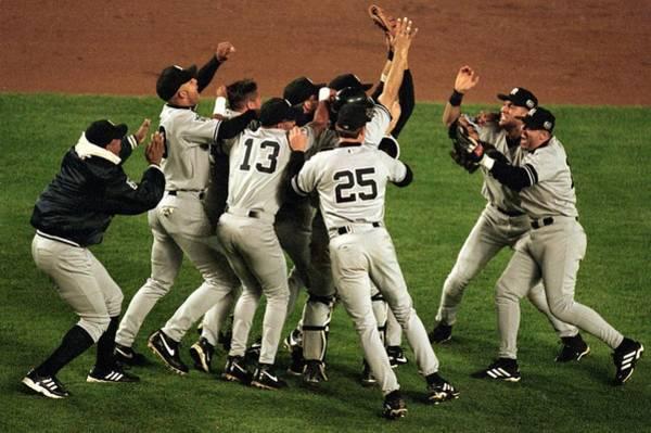 Photograph - Yankees Celebrate by Al Bello
