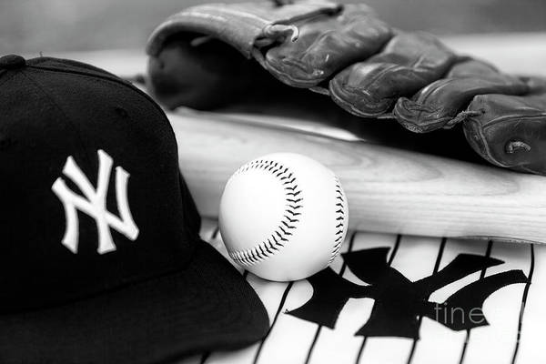 Hats For Sale Photograph - Yankees Pastime Essentials by John Rizzuto