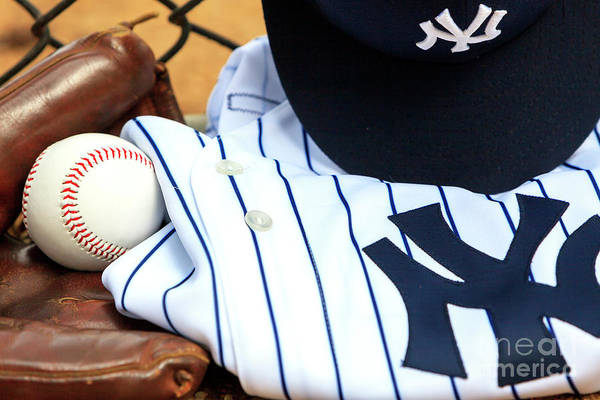 Hats For Sale Photograph - Yankees Pinstripes Worn With Pride by John Rizzuto