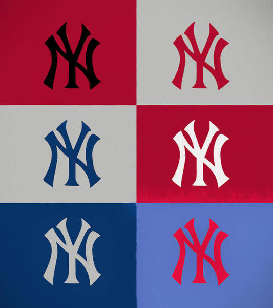Wall Art - Painting - Yankees Pop Art Panels by Dan Sproul