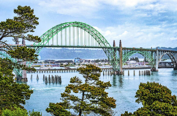 Photograph - Yaquina Bay Bridge by Carolyn Derstine