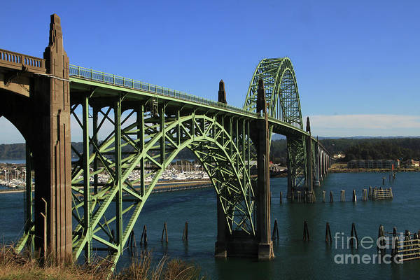 Photograph - Yaquina Bay Bridge In Newport. Oct. 4, 2015 by California Views Archives Mr Pat Hathaway Archives