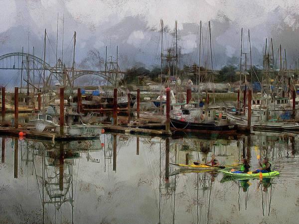 Photograph - Yaquina Bay Kayaking by Thom Zehrfeld