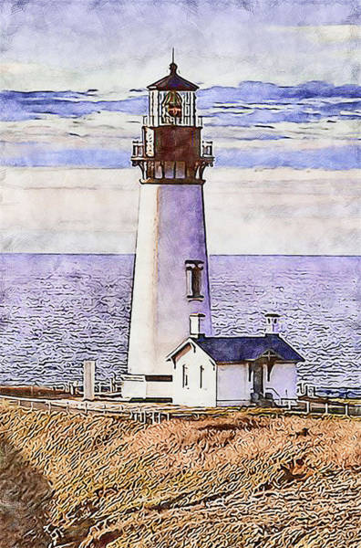 Painting - Yaquina Head Light, Oregon - 03 by Andrea Mazzocchetti