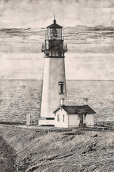 Painting - Yaquina Head Light, Oregon - 04 by Andrea Mazzocchetti