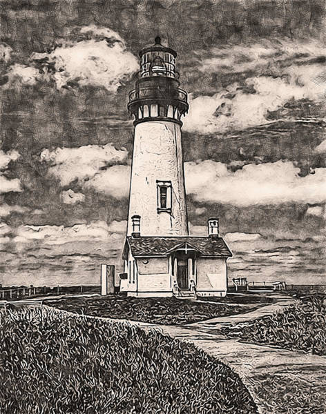 Painting - Yaquina Head Light, Oregon - 06 by Andrea Mazzocchetti