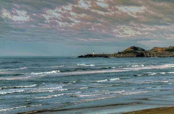 Camera Raw Photograph - Yaquina Head Lighthouse And Cape Foulweather by Brenton Cooper