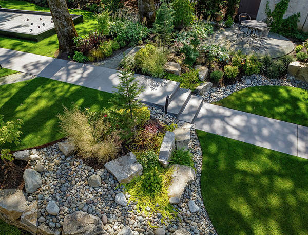 Wall Art - Photograph - Yard Landscaped by Mike Penney