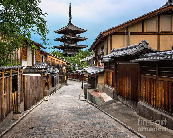 Kansai Wall Art - Photograph - Yasaka Pagoda And Sannen Zaka Street In by Ansharphoto