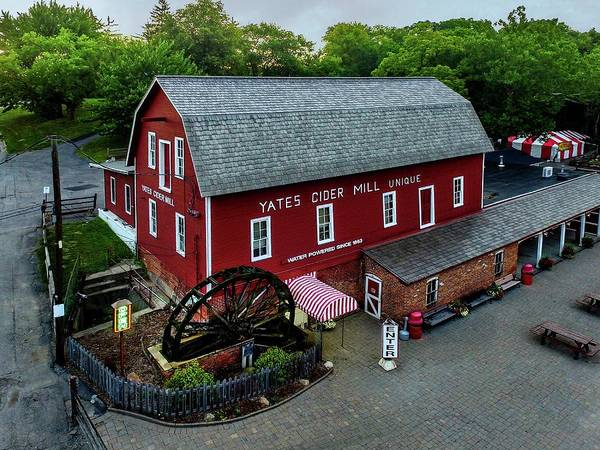 Digital Art - Yates Cider Mill Dji_0056 by Michael Thomas