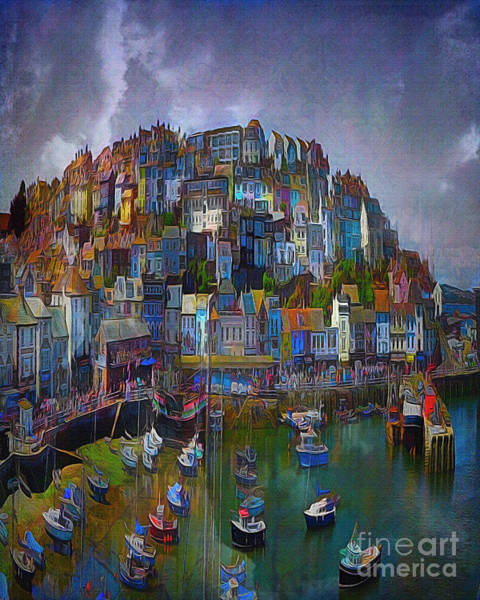 Digital Art - Ye Olde Brixham by Edmund Nagele