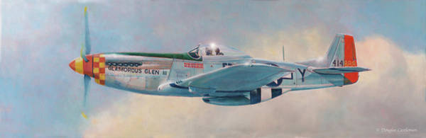 Painting - Yeager's P-51d Mustang by Douglas Castleman