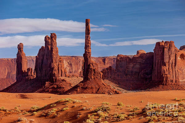 Photograph - Yei Bei Chi Totem Poles - Monument Valley by Brian Jannsen