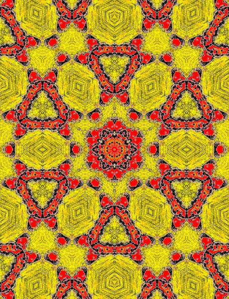 Painting - Yellow Abstract Pattern Painting 4 by Artist Dot