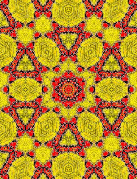 Painting - Yellow Abstract Pattern Painting 7 by Artist Dot