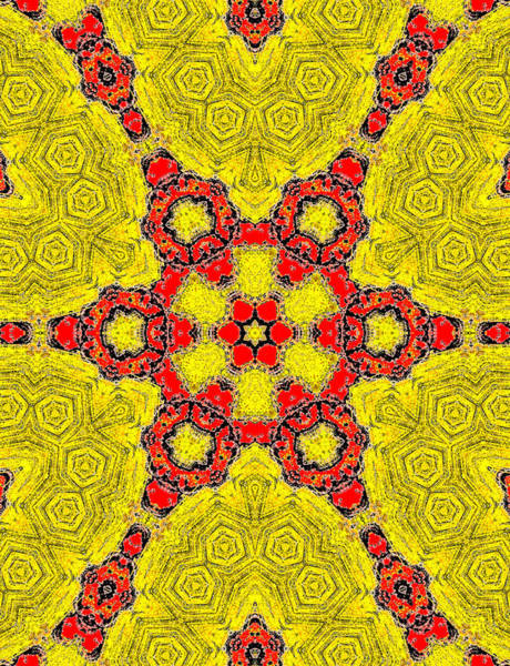Painting - Yellow Abstract Pattern Painting 9 by Artist Dot